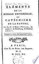 Éléments de la morale universelle, ou Catéchisme de la nature
