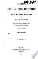 Eléments de la philosophie de l'esprit humain