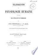 Eléments de physiologie humaine à l'usage des étudiants en médecine
