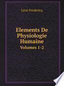 Elements De Physiologie Humaine
