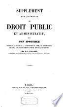 Éléments du droit public et administratif