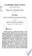 Éloge de M. le baron Georges Cuvier