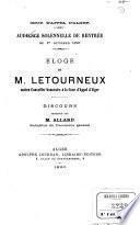 Éloge de M. Letourneux ancien Conseiller honoraire à la Cour d'appel d'Alger