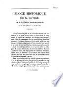 Eloge historique de G. Cuvier