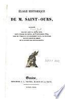 Eloge historique de M. Saint-Ours prononcé par son ami P.-L. De la Rive, dans l'église de Chêne, le 8 septembre 1809