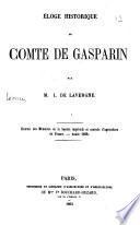 Eloge historique du comte de Gasparin