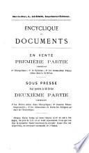 Encyclique et documents en français & en latin
