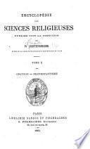 Encyclopédie des sciences religieuses