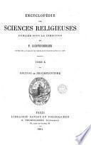 Encyclopédie des sciences religieuses, publ. sous la direction de F. Lichtenberger