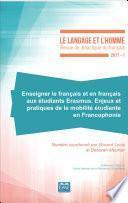 Enseigner le français et en français aux étudiants Erasmus