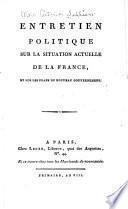Entretien politique sur la situation actuelle de la France
