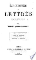 Epicuriens et lettrés, XVIIe et XVIIIe siècles
