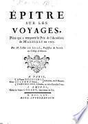 Epitre sur les Voyages ...