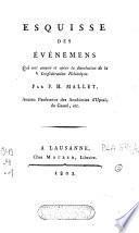 Esquisse des événemens qui ont amené et opéré la dissolution de la Confédération Helvétique