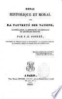 Essai historique et moral sur la pauvrete des nations, la population (etc.)