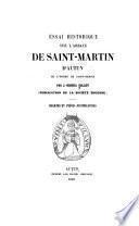 Essai historique sur l'abbaye de Saint-Martin d'Autun de l'ordre de Saint-Benoît
