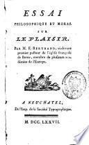 Essai philosophique et moral sur le plaisir