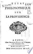 Essai philosophique sur la Providence