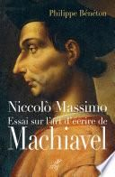 Essai sur l'art d'écrire de Machiavel