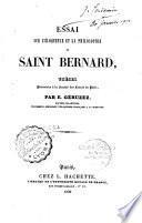 Essai sur l'éloquence et la philosophie de saint Bernard