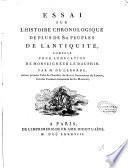 Essai sur l'histoire chronologique de plus de 80 peuples de l'Antiquité, composé pour l'éducation de Monseigneur le Dauphin