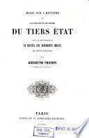 Essai sur l'histoire de la formation et des progrès du Tiers Etat