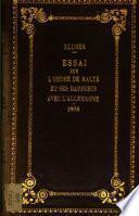 Essai sur l'Ordre de Malte ou de st. Jean et sur ses rapports avec l'Allemagne en général et avec le Brisgau en particulier [by J.L. Klüber].