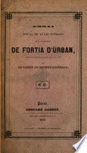 Essai sur la vie et les ouvrages de M. le marquis de Fortia d'urban