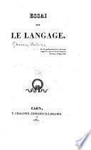 Essai sur le langage