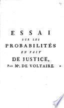 Essai sur les probabilités en fait de justice