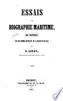 Essais de biographie maritime