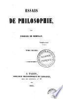 Essais de philosophie