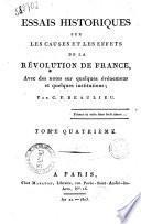 Essais historiques sur les causes et les effets de la Révolution de France, avec des notes sur quelques événemens et quelques institutions; par C. F. Beaulieu. Tome premier \-sixième!