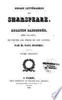 Essais littéraires sur Shakespeare