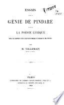 Essais sur le génie de Pindare et sur la poésie lyrique