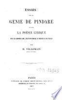 Essais sur le génie de Pindare