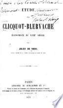 Étude sur Cliquot-Blervache, économiste du XVIIIe siècle