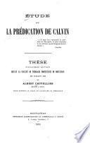 Étude sur la prédication de Calvin