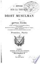 Étude sur la théorie du droit musulman