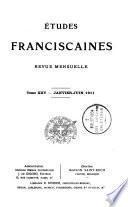 Etudes franciscaines