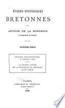 Études historiques bretonnes ie, iie sèrie