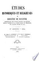 Études historiques et religieuses du diocèse de Bayonne