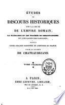 Etudes ou discours historiques