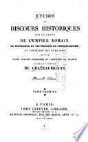 Etudes ou discours historiques sur la chute de l'empire Romain