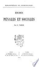 Études pénales et sociales