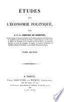 Etudes sur l'économie politique