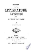Études sur la littérature contemporaine