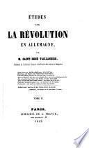 Études sur la révolution en Allemagne