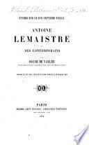 Études sur le XVIIe siècle