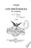 Etudes sur les historiens du Lyonnais